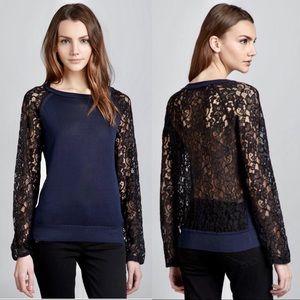 {Diane Von Furstenberg} Avani Silk Lace Sweater